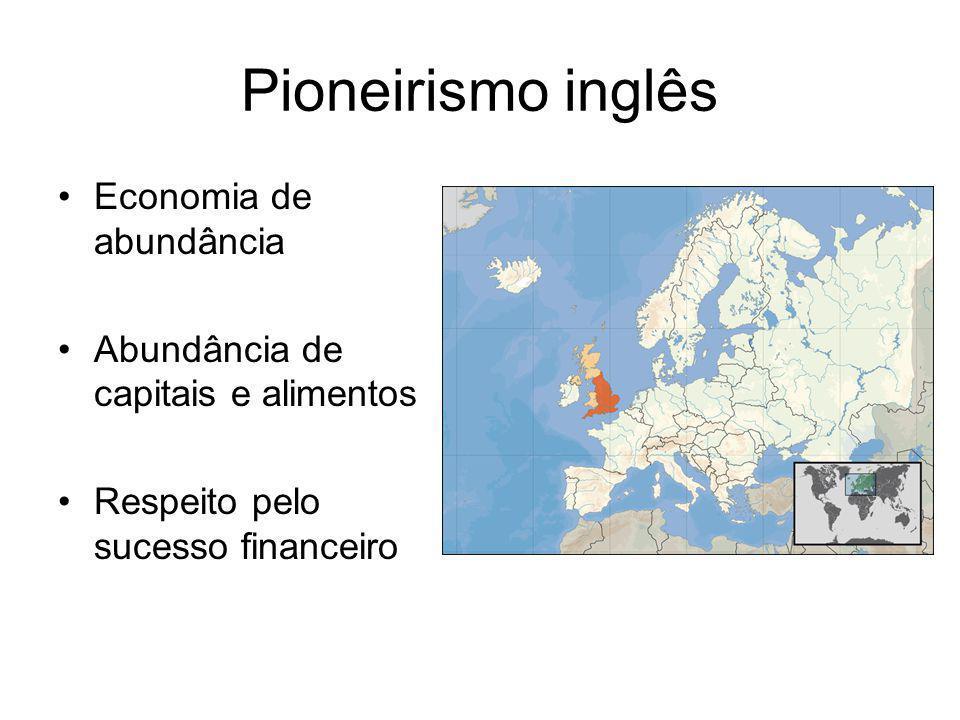 Pioneirismo inglês Economia de abundância