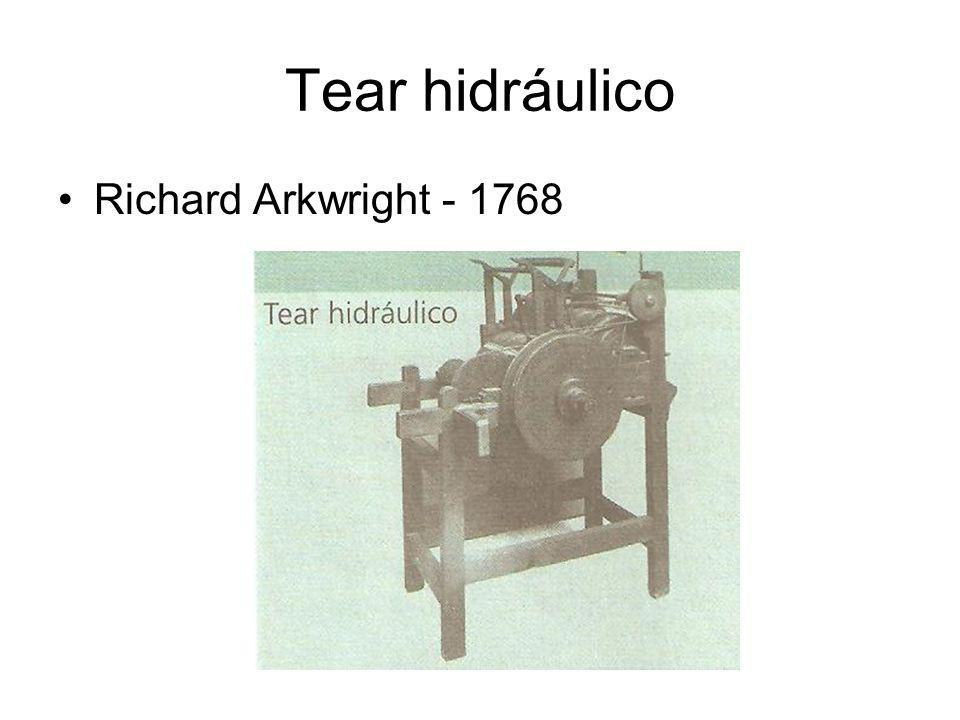 Tear hidráulico Richard Arkwright - 1768
