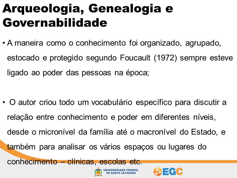 Arqueologia, Genealogia e Governabilidade