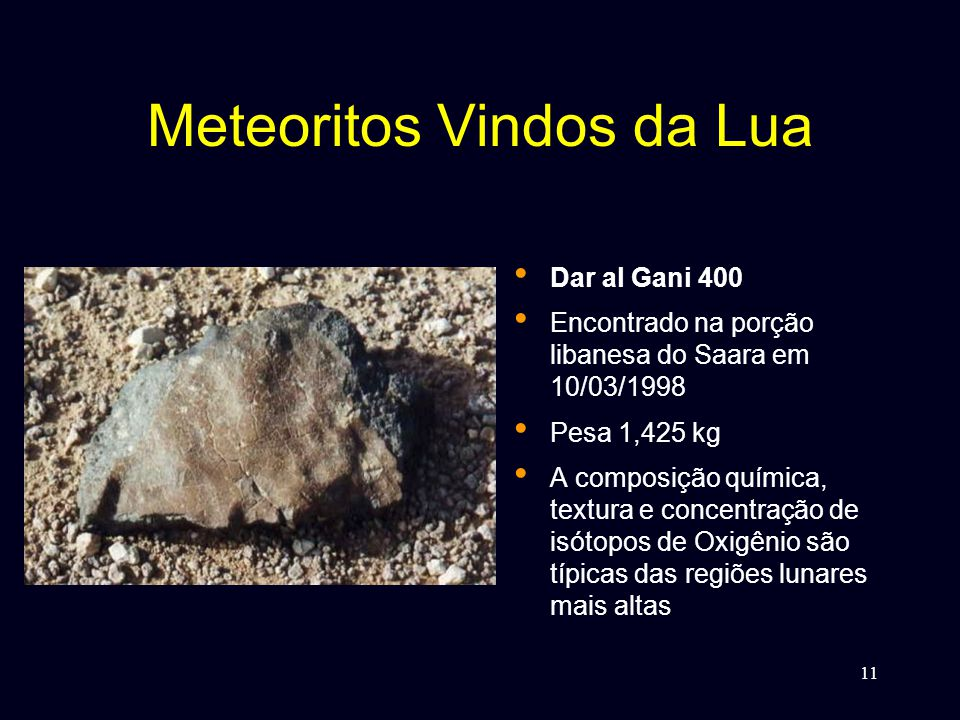 Meteoritos Vindos da Lua