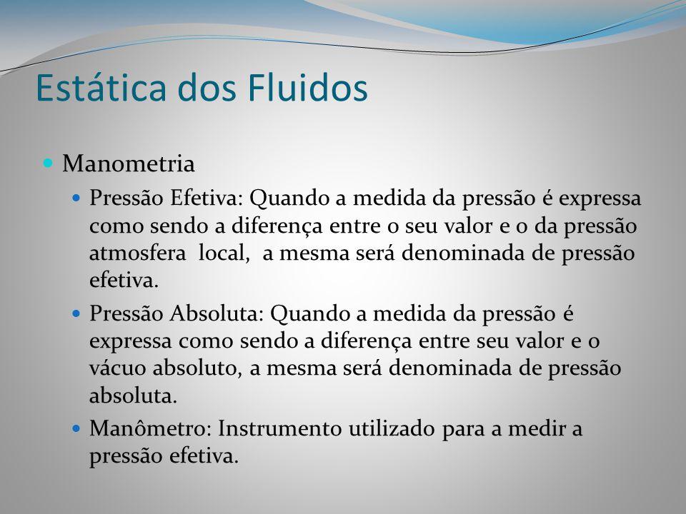Estática dos Fluidos Manometria