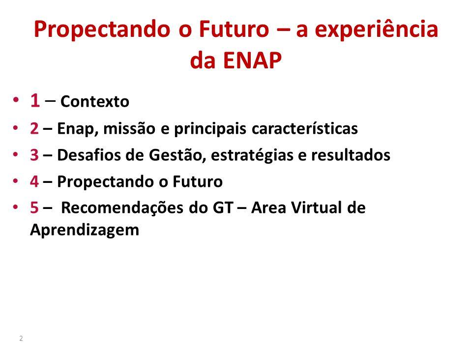 Propectando o Futuro – a experiência da ENAP
