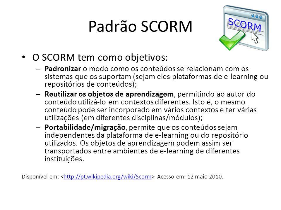 Padrão SCORM O SCORM tem como objetivos: