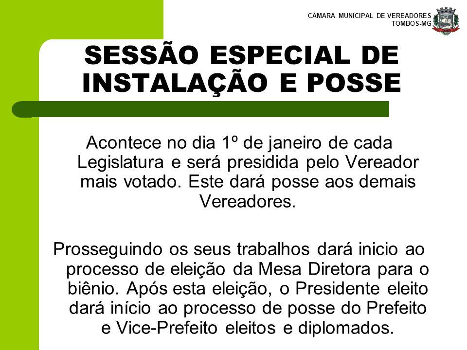 SESSÃO ESPECIAL DE INSTALAÇÃO E POSSE