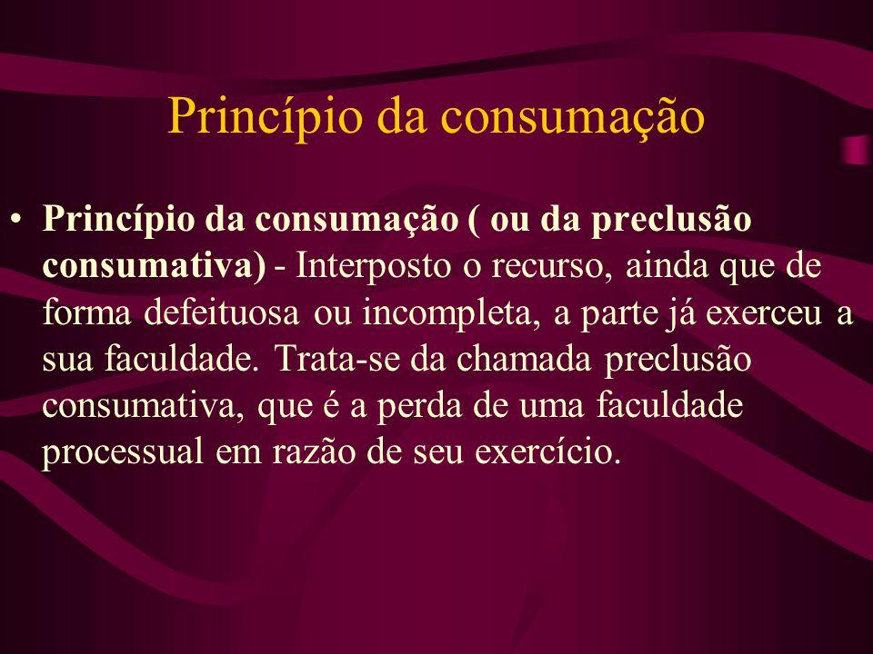 Princípio da consumação