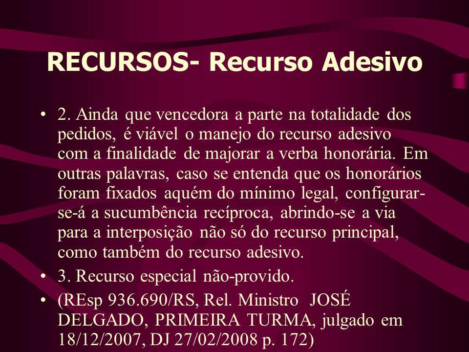 RECURSOS- Recurso Adesivo