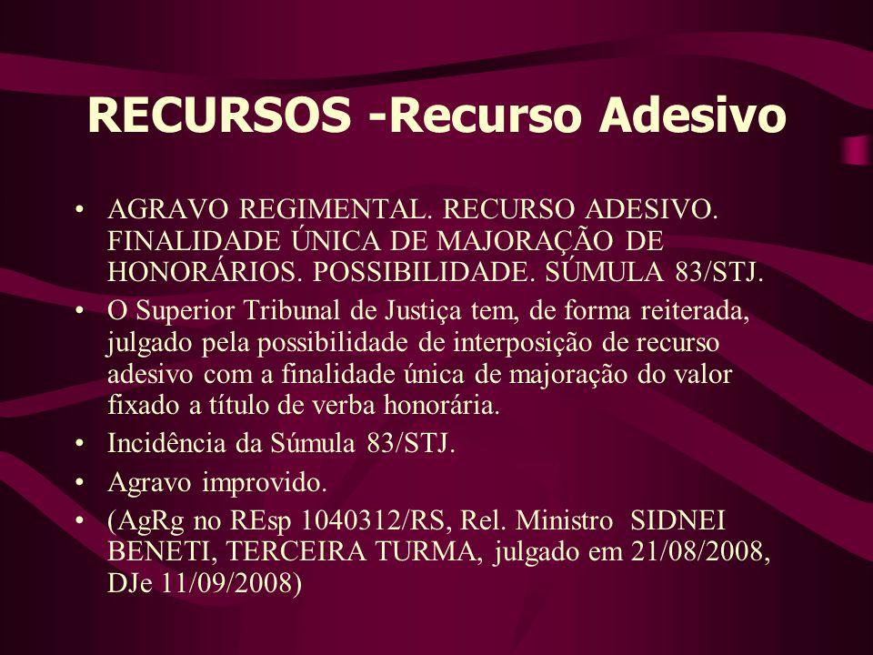 RECURSOS -Recurso Adesivo
