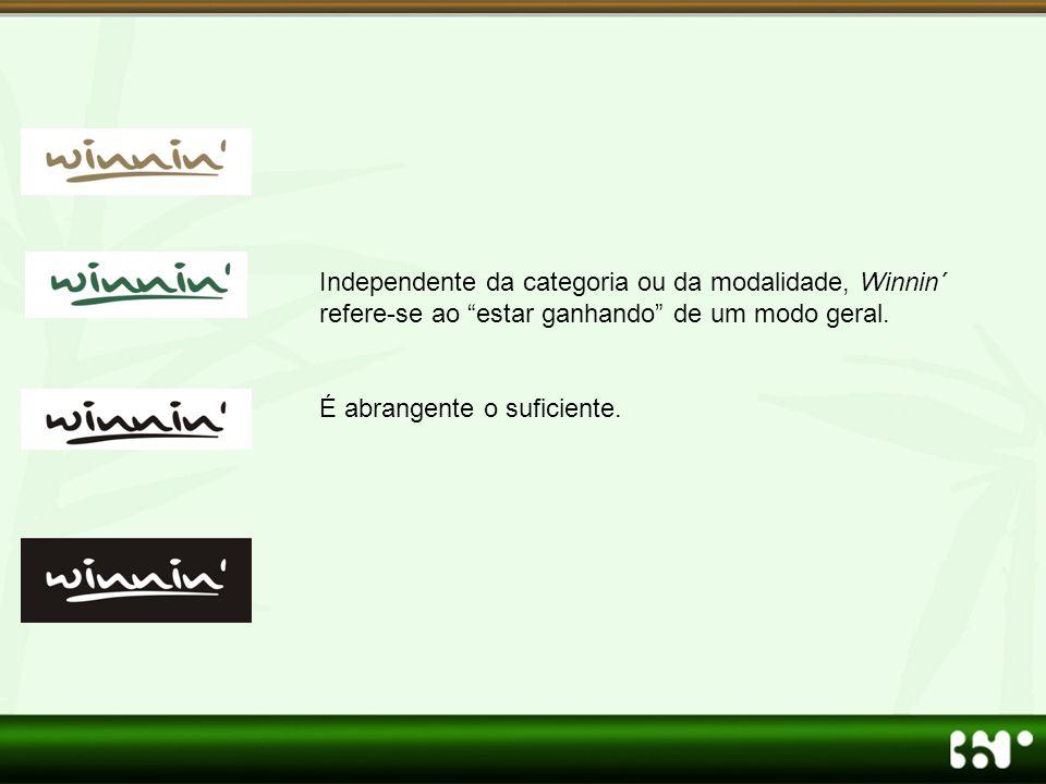 Independente da categoria ou da modalidade, Winnin´ refere-se ao estar ganhando de um modo geral.