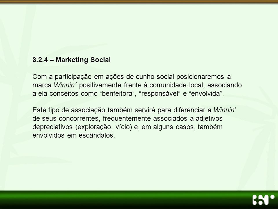 3.2.4 – Marketing Social