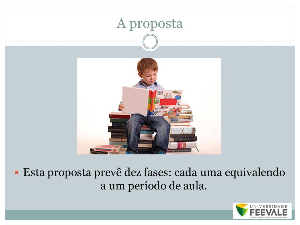 A proposta Esta proposta prevê dez fases: cada uma equivalendo a um período de aula.