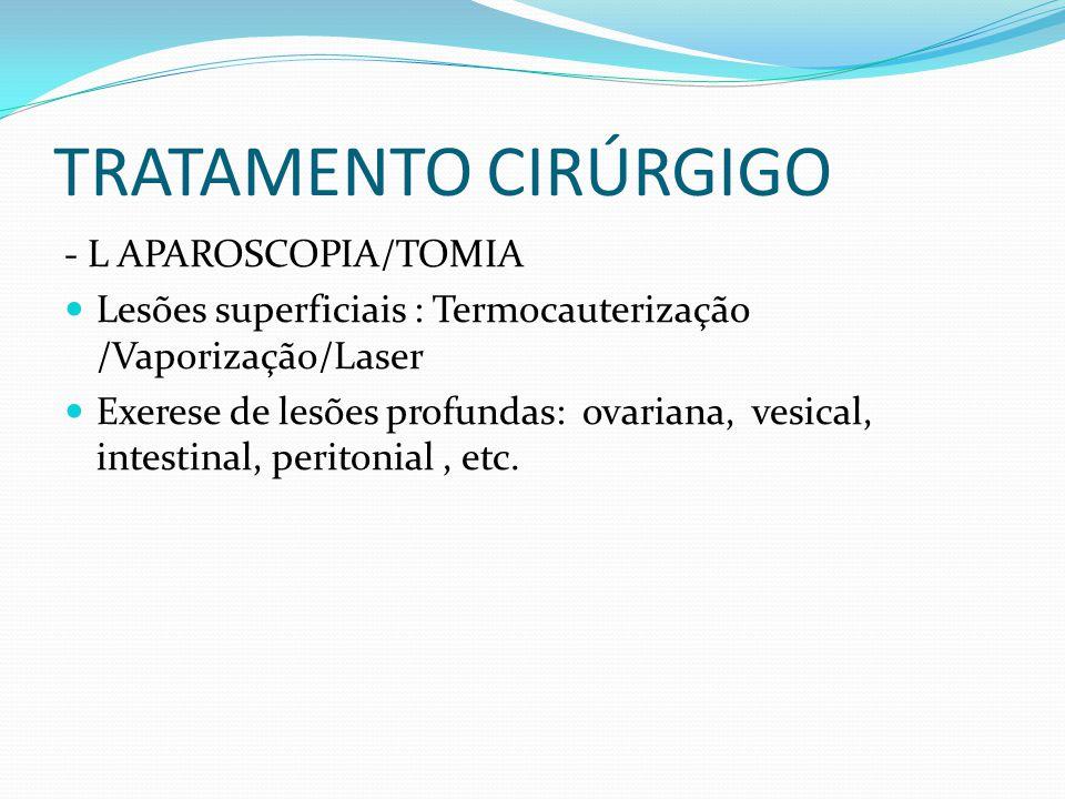 TRATAMENTO CIRÚRGIGO - L APAROSCOPIA/TOMIA