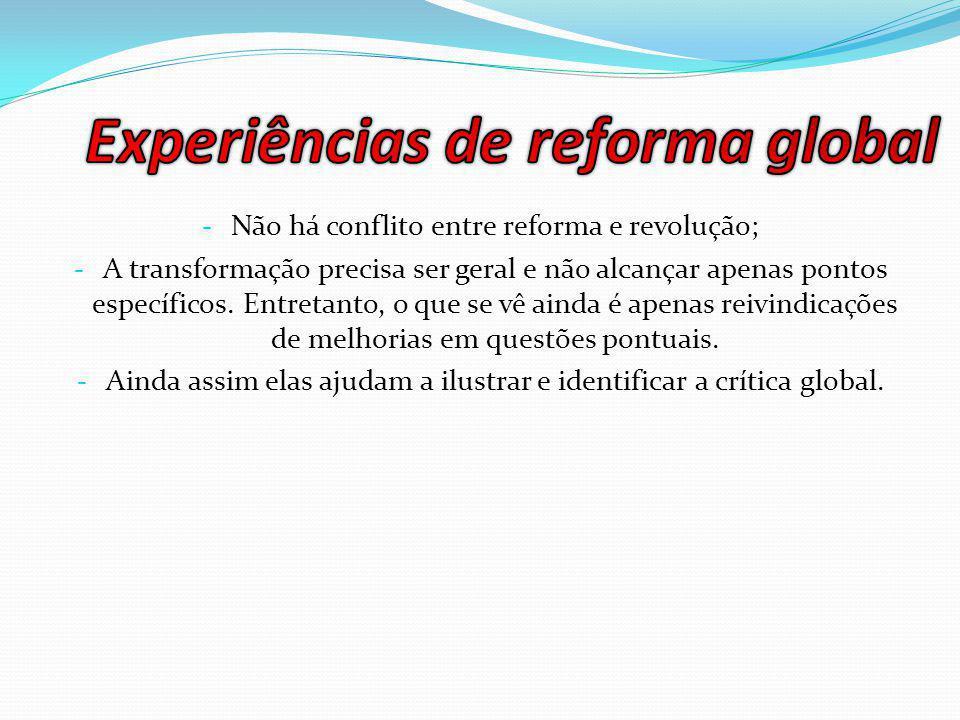 Experiências de reforma global