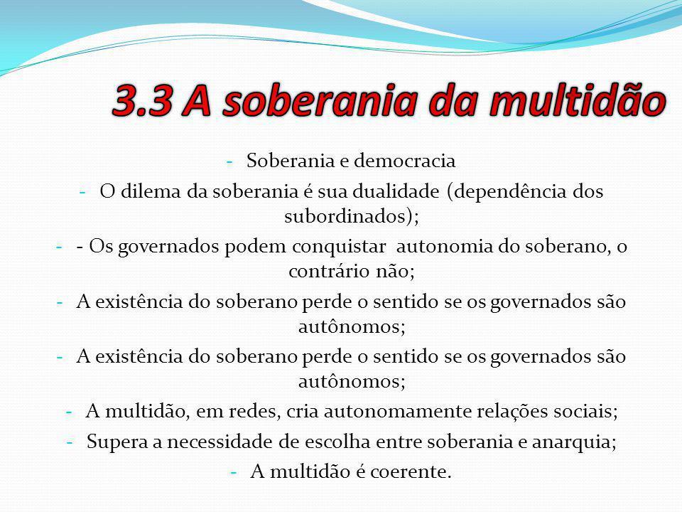 3.3 A soberania da multidão