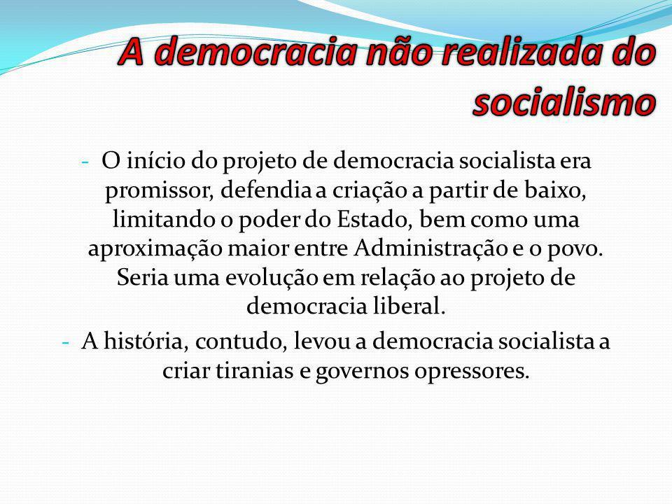 A democracia não realizada do socialismo