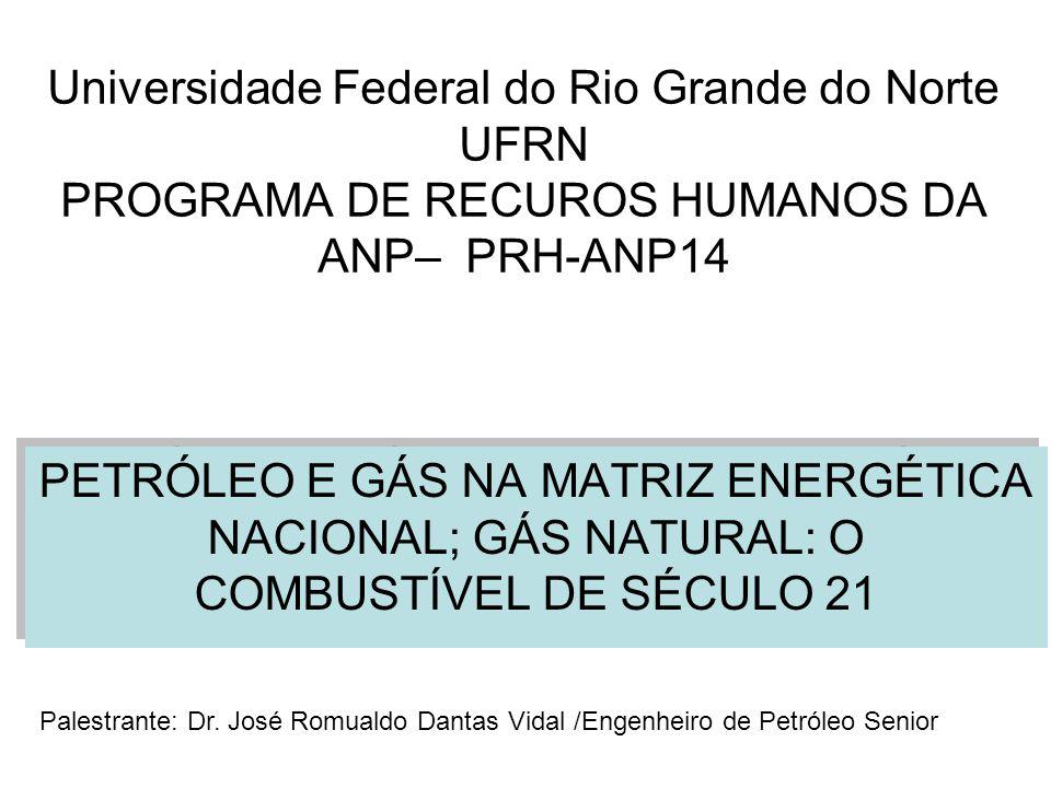 Universidade Federal do Rio Grande do Norte UFRN PROGRAMA DE RECUROS HUMANOS DA ANP– PRH-ANP14