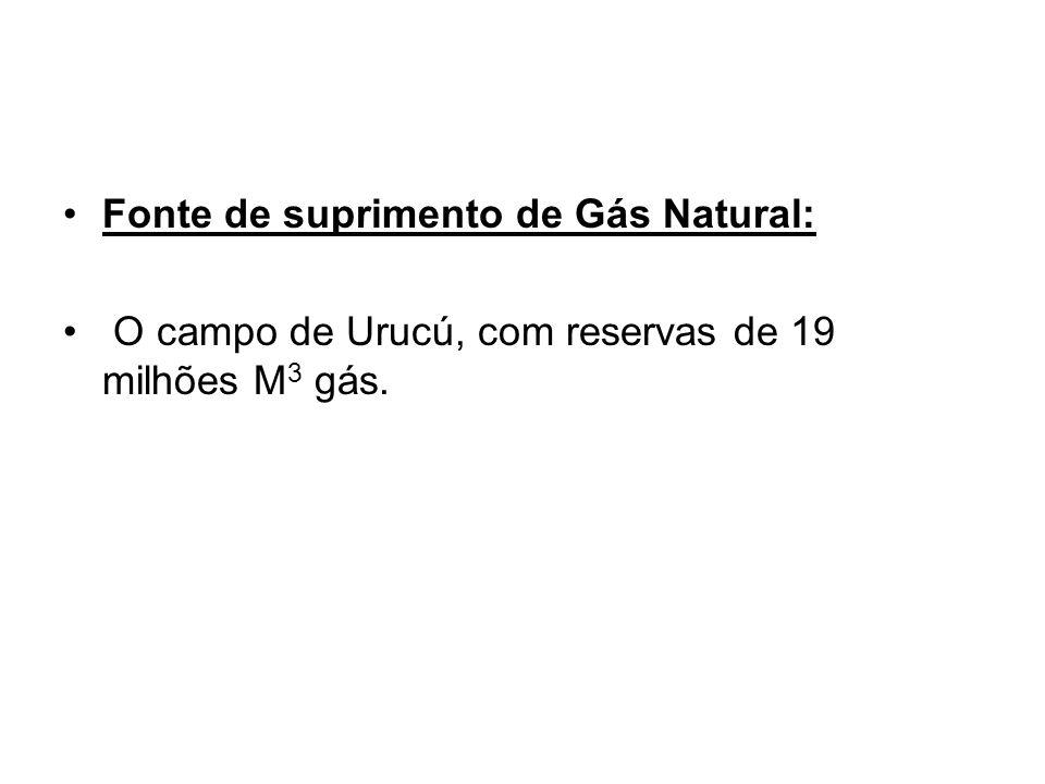 Fonte de suprimento de Gás Natural: