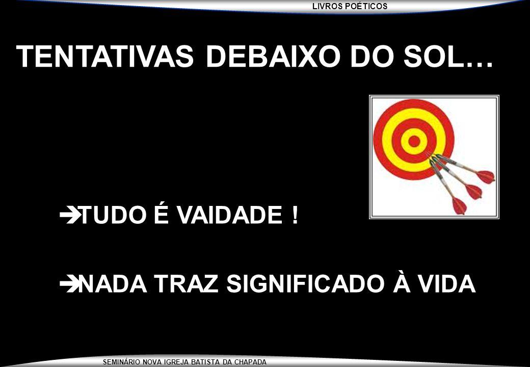TENTATIVAS DEBAIXO DO SOL…