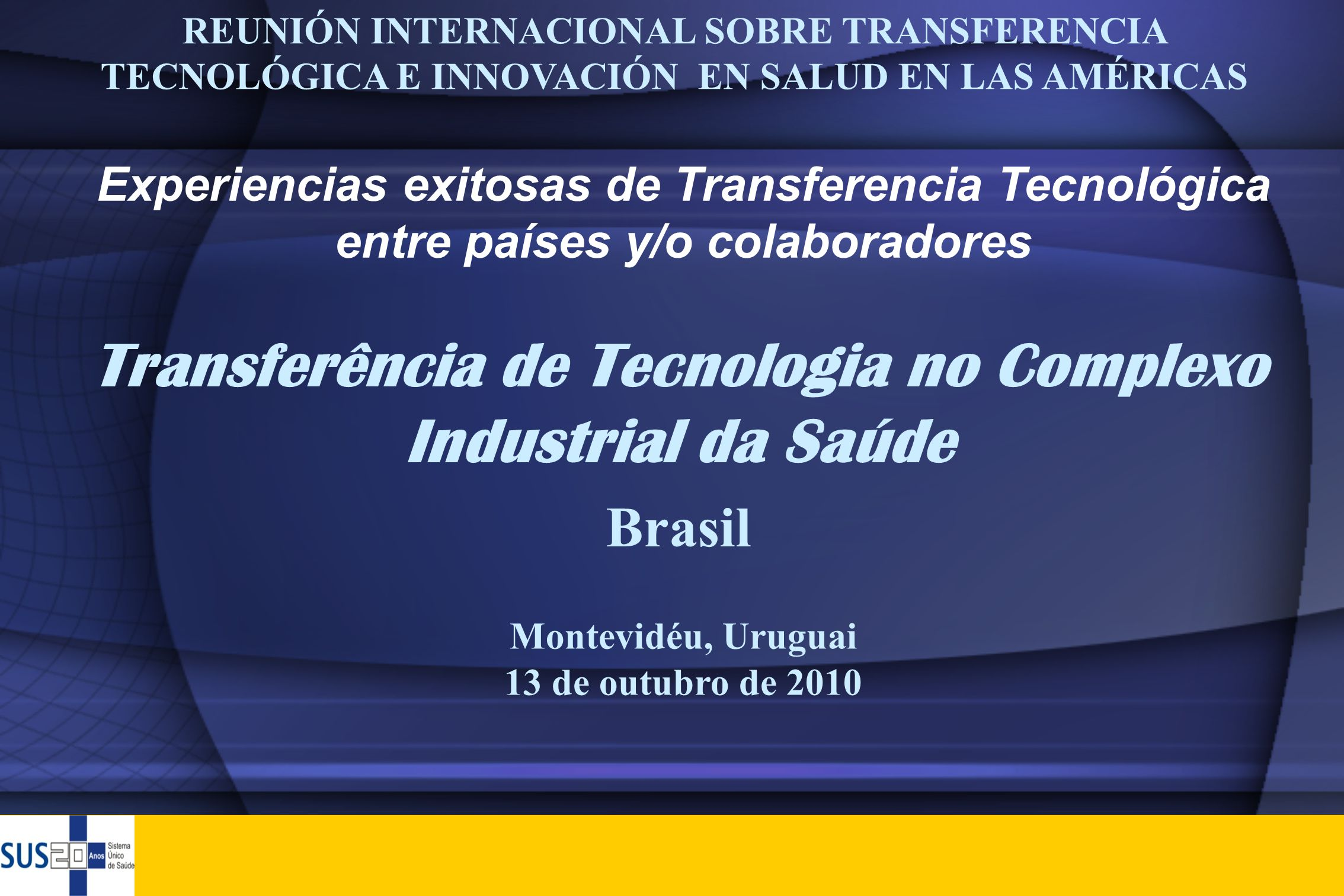 Transferência de Tecnologia no Complexo Industrial da Saúde
