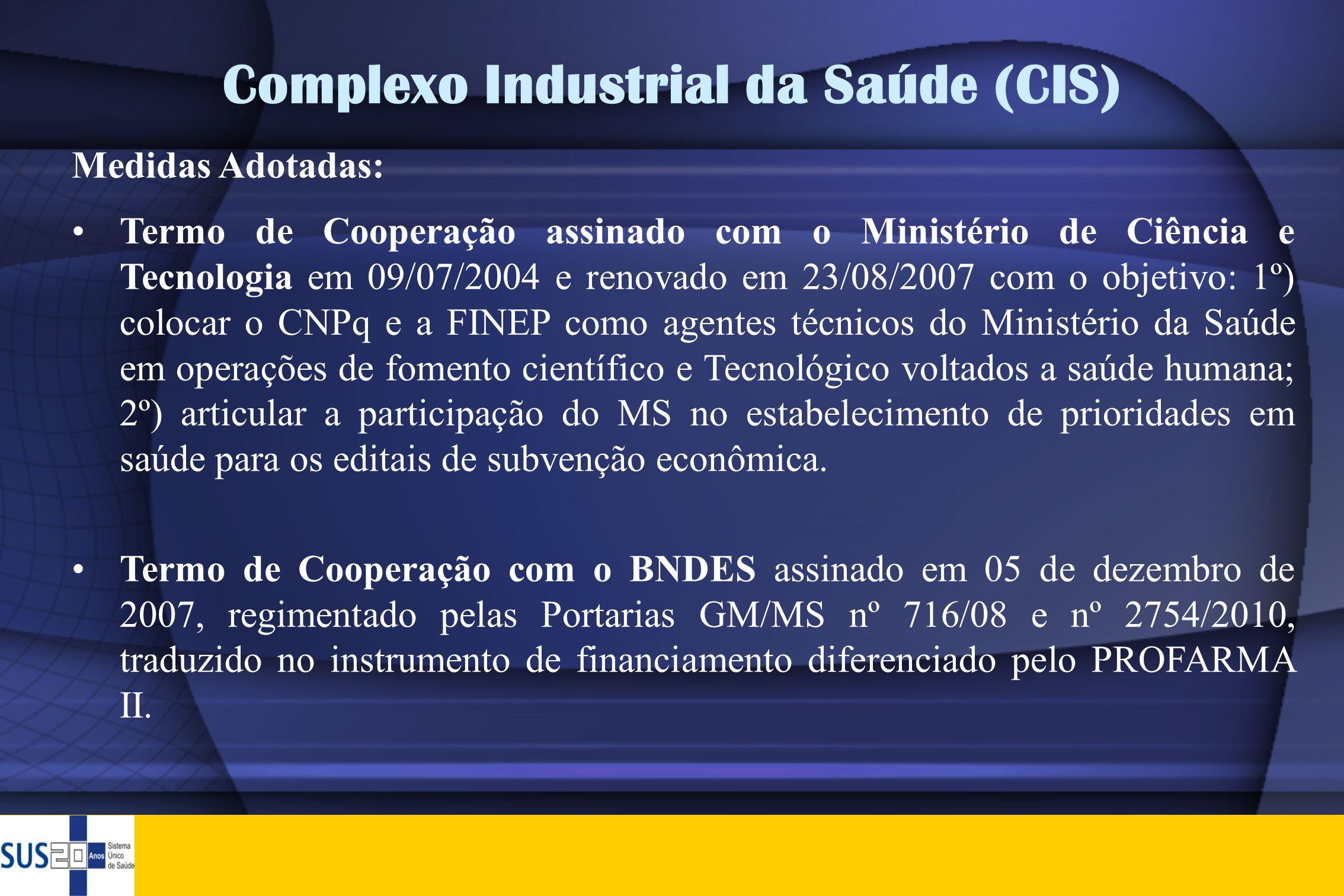 Complexo Industrial da Saúde (CIS)