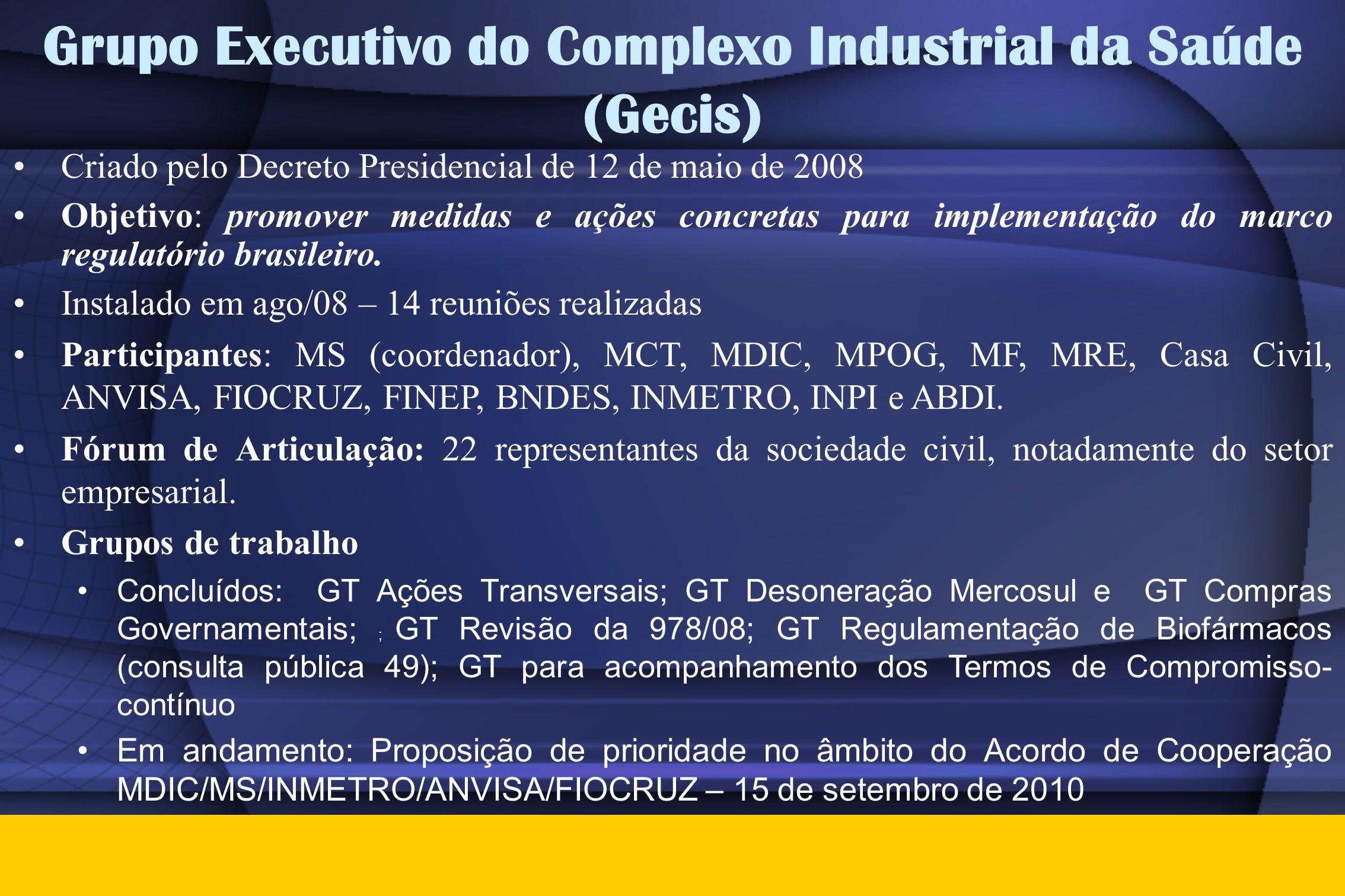 Grupo Executivo do Complexo Industrial da Saúde (Gecis)