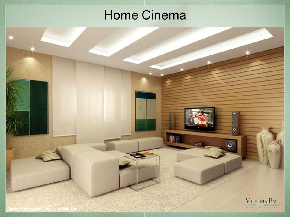 Home Cinema Imagem provisória – sujeita a alteração