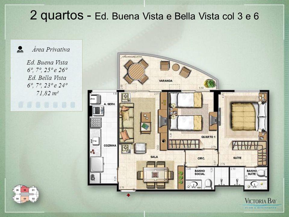2 quartos - Ed. Buena Vista e Bella Vista col 3 e 6