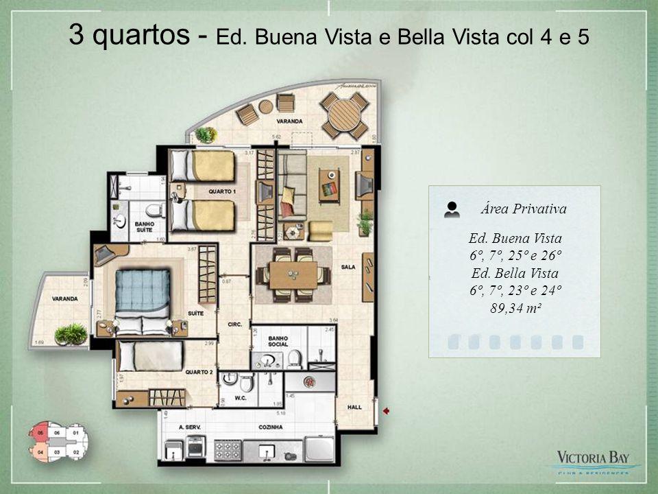 3 quartos - Ed. Buena Vista e Bella Vista col 4 e 5