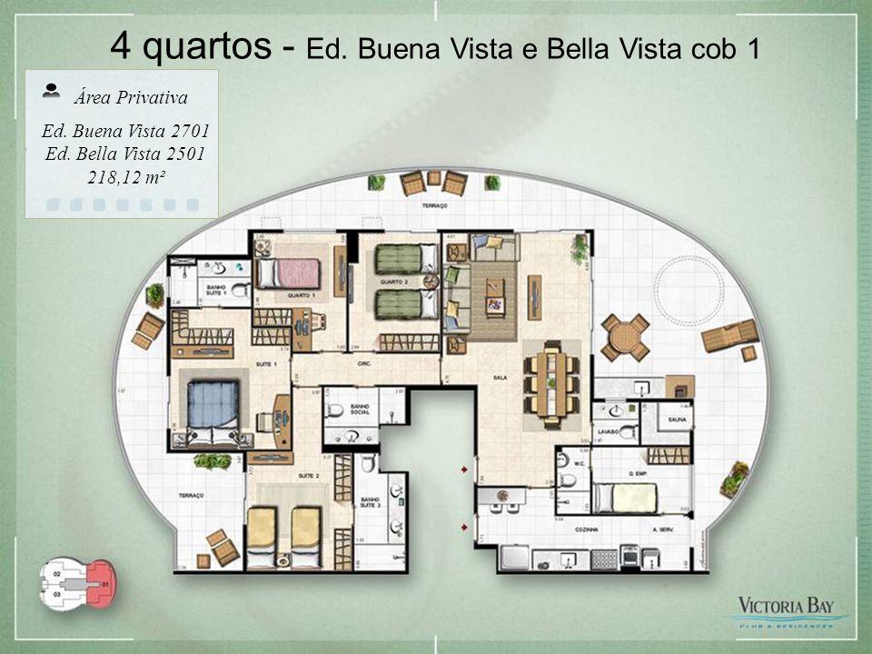 4 quartos - Ed. Buena Vista e Bella Vista cob 1