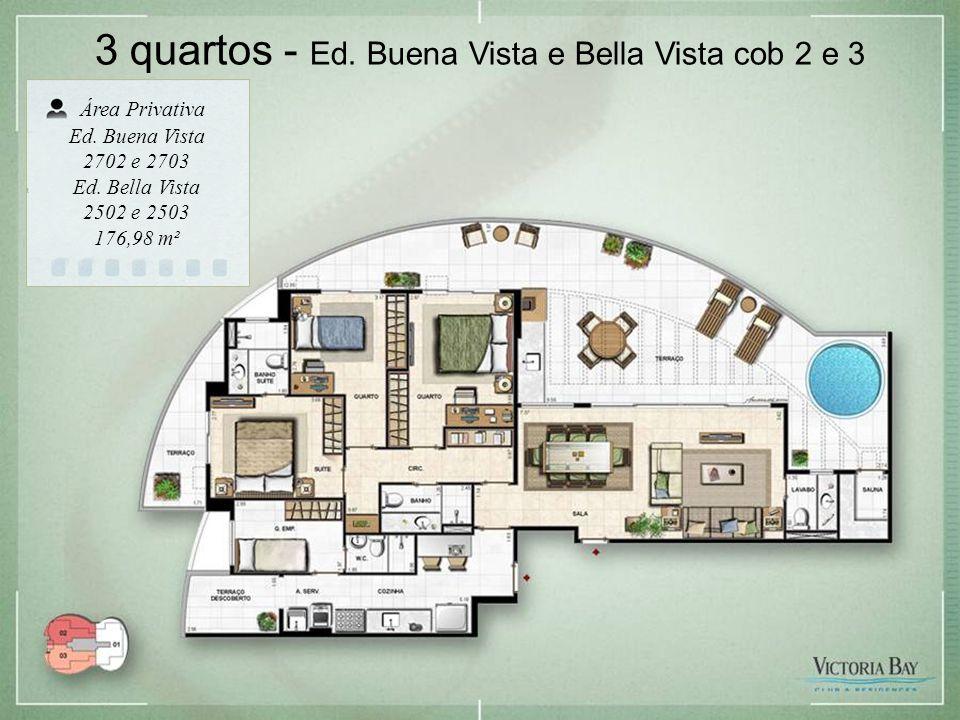 3 quartos - Ed. Buena Vista e Bella Vista cob 2 e 3