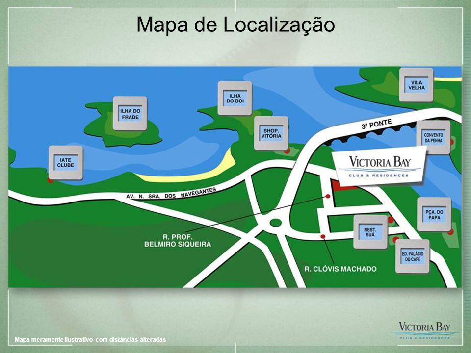 Mapa de Localização Mapa meramente ilustrativo com distâncias alteradas