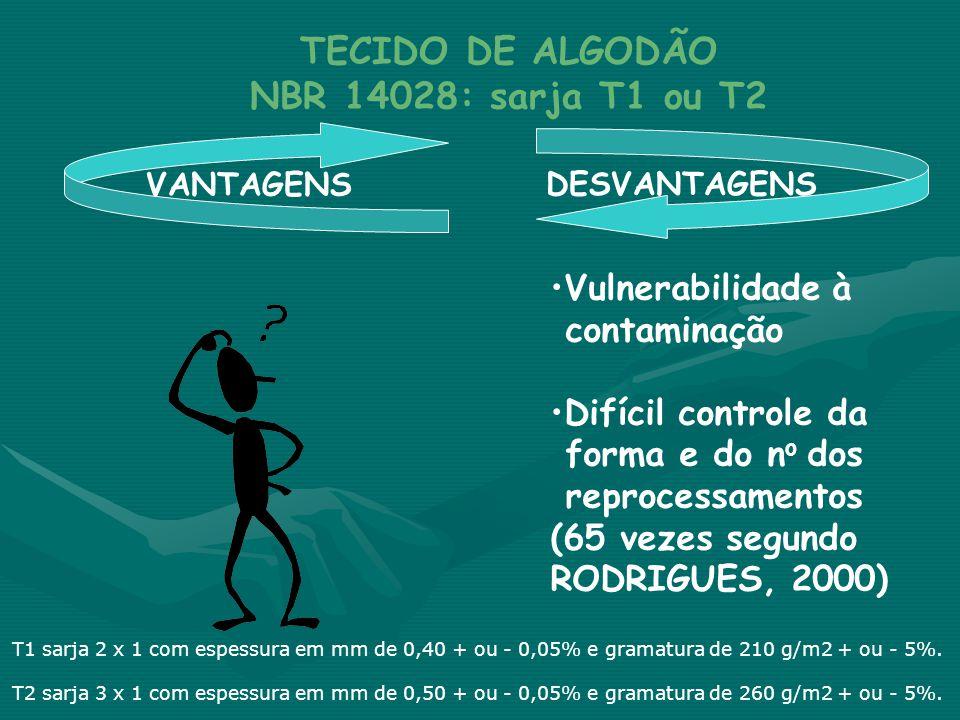 TECIDO DE ALGODÃO NBR 14028: sarja T1 ou T2