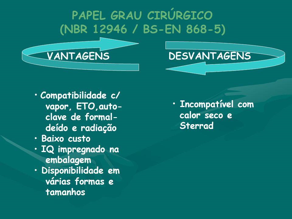 PAPEL GRAU CIRÚRGICO (NBR 12946 / BS-EN 868-5)