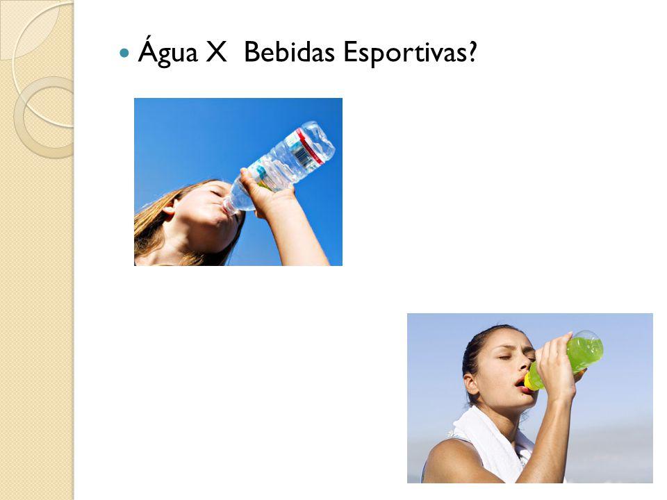 Água X Bebidas Esportivas