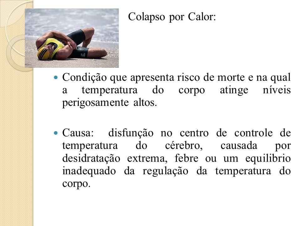 Colapso por Calor: Condição que apresenta risco de morte e na qual a temperatura do corpo atinge níveis perigosamente altos.