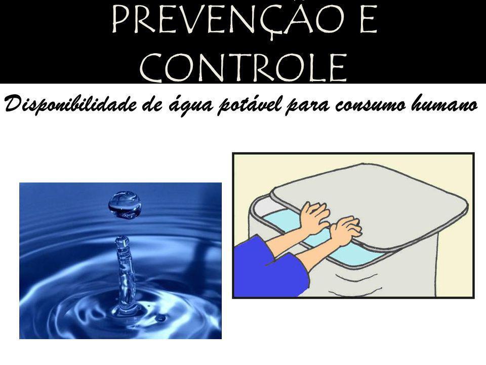 PREVENÇÃO E CONTROLE Disponibilidade de água potável para consumo humano