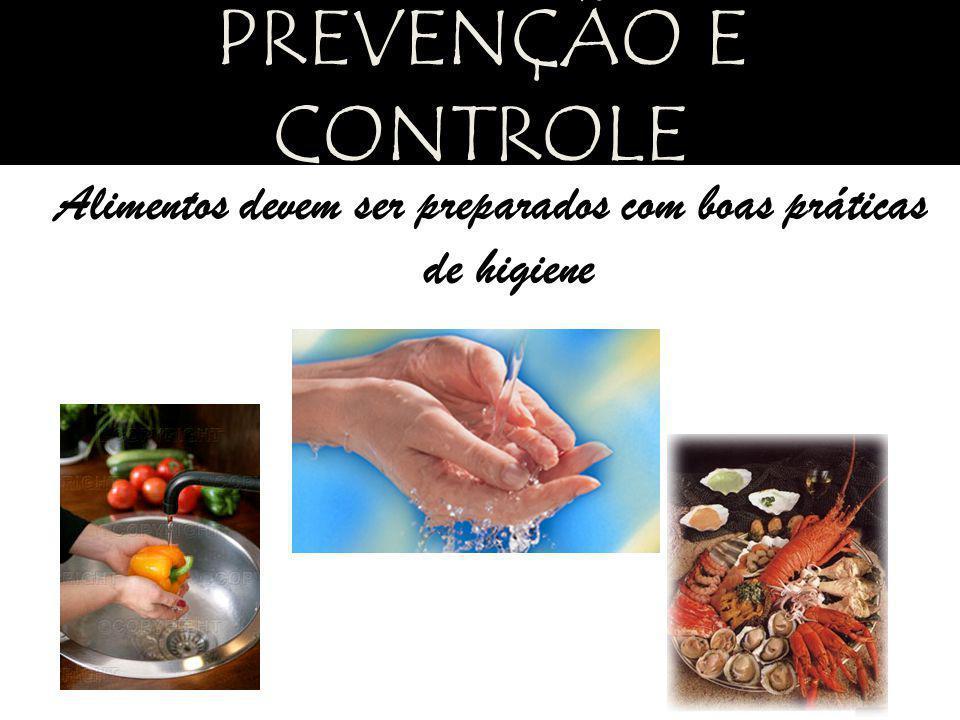 Alimentos devem ser preparados com boas práticas de higiene