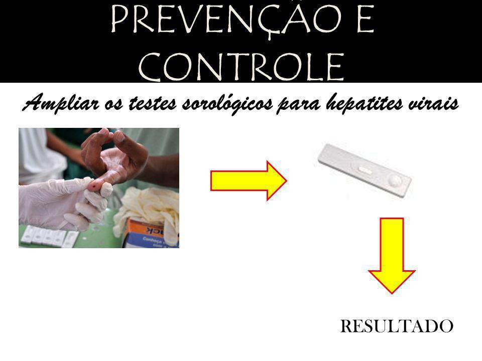 Ampliar os testes sorológicos para hepatites virais