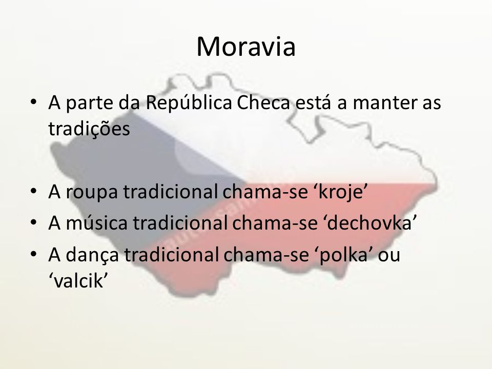 Moravia A parte da República Checa está a manter as tradições