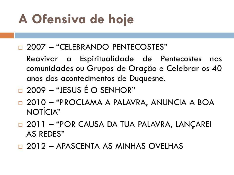 A Ofensiva de hoje 2007 – CELEBRANDO PENTECOSTES