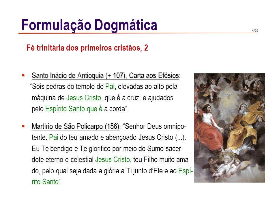 Formulação Dogmática Fé trinitária dos primeiros cristãos, 2