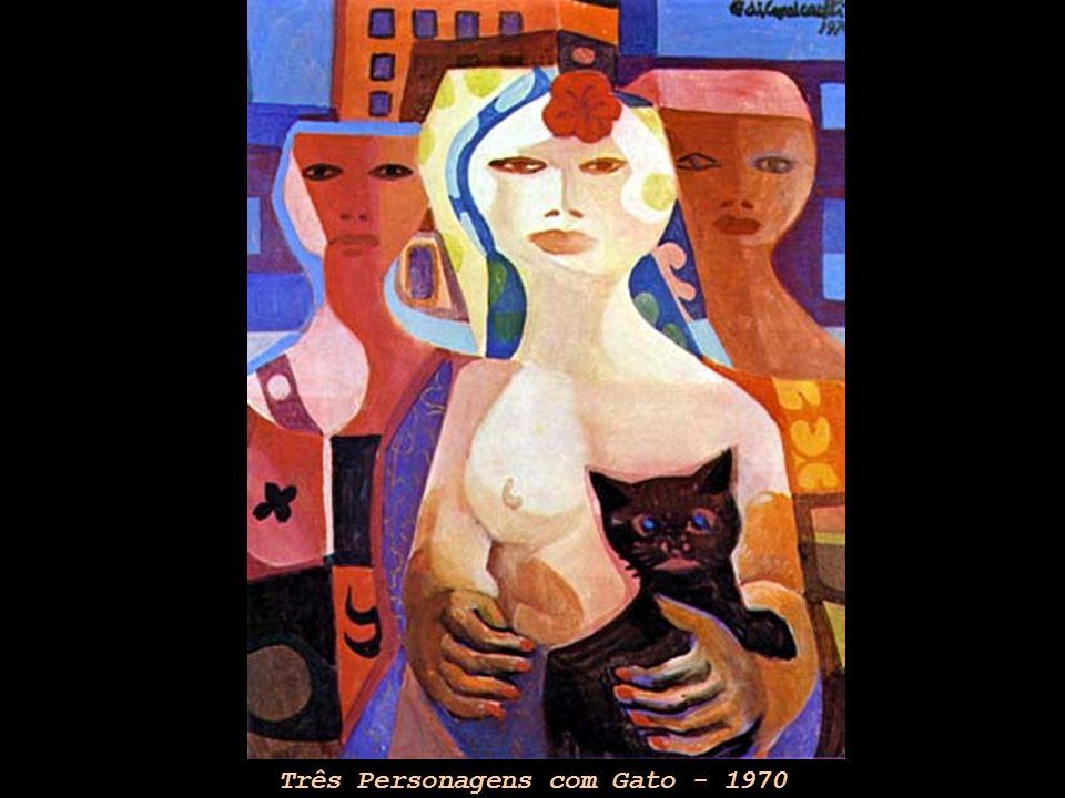 Três Personagens com Gato - 1970