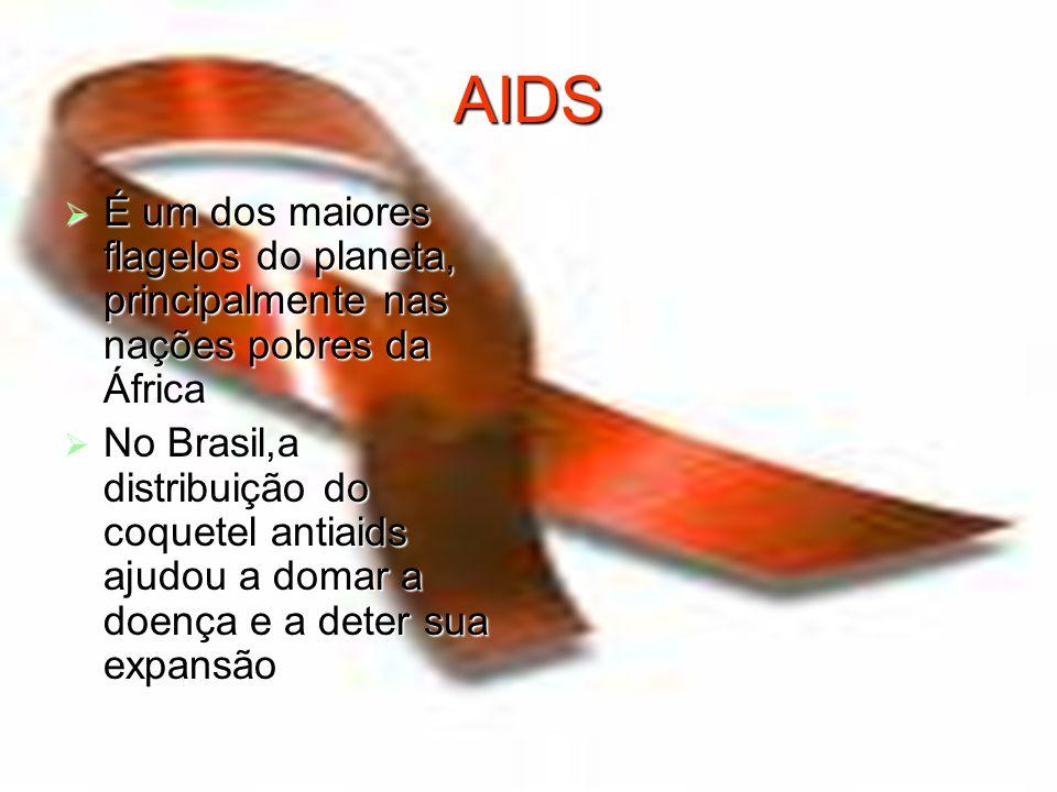 AIDS É um dos maiores flagelos do planeta, principalmente nas nações pobres da África.