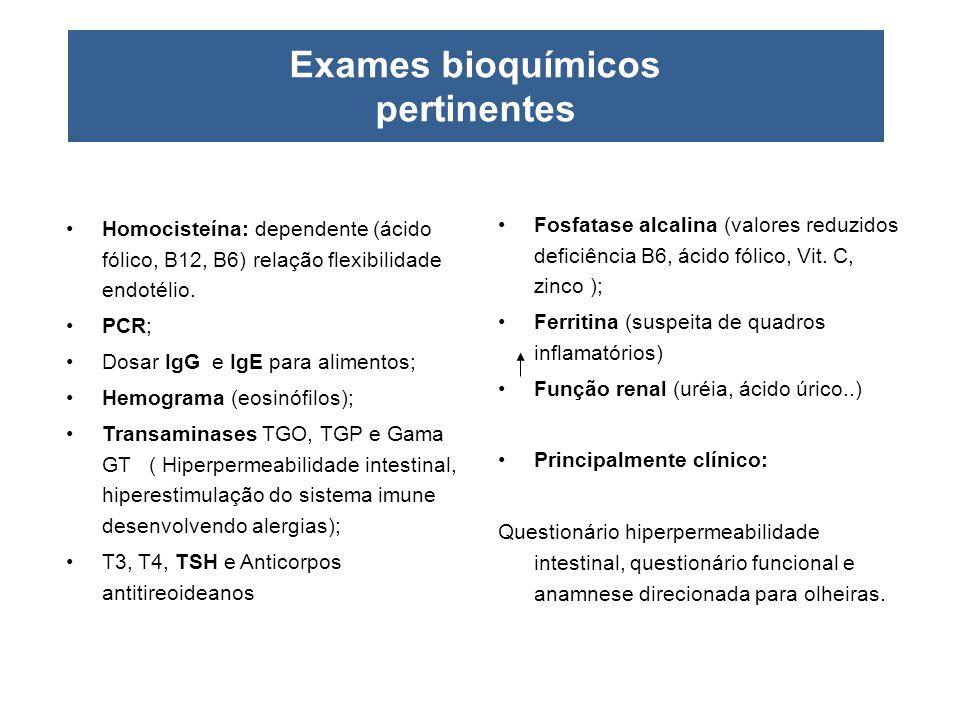 Exames bioquímicos pertinentes