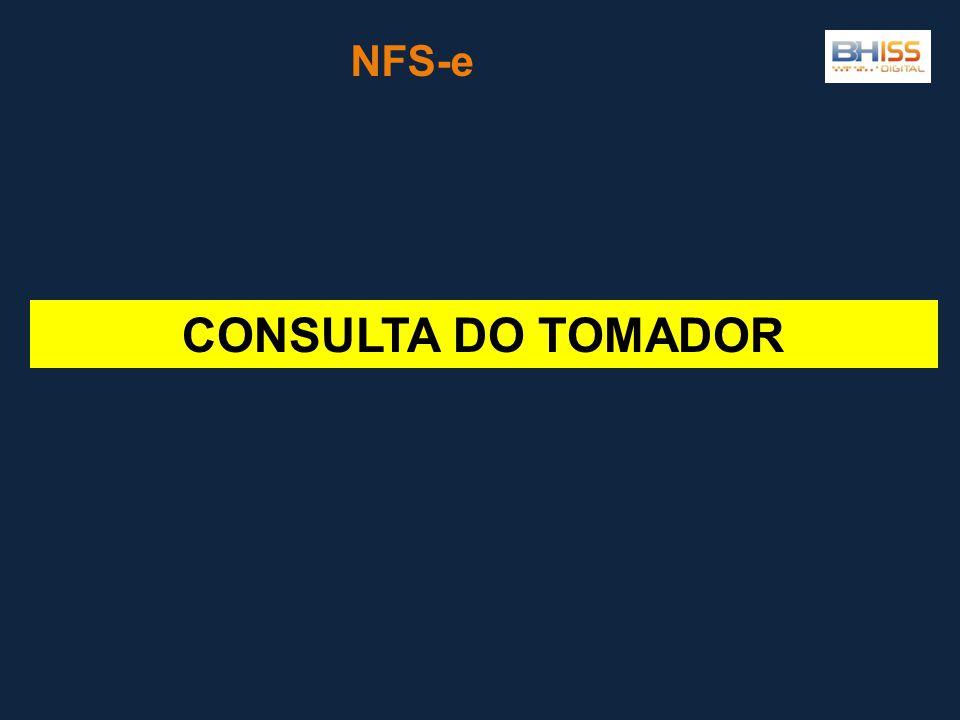 NFS-e CONSULTA DO TOMADOR