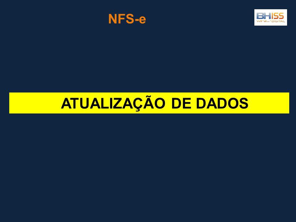 NFS-e ATUALIZAÇÃO DE DADOS