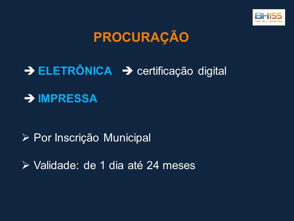 PROCURAÇÃO ELETRÔNICA  certificação digital IMPRESSA