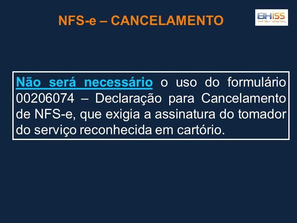 NFS-e – CANCELAMENTO