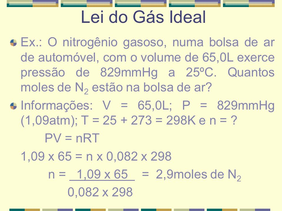 Lei do Gás Ideal