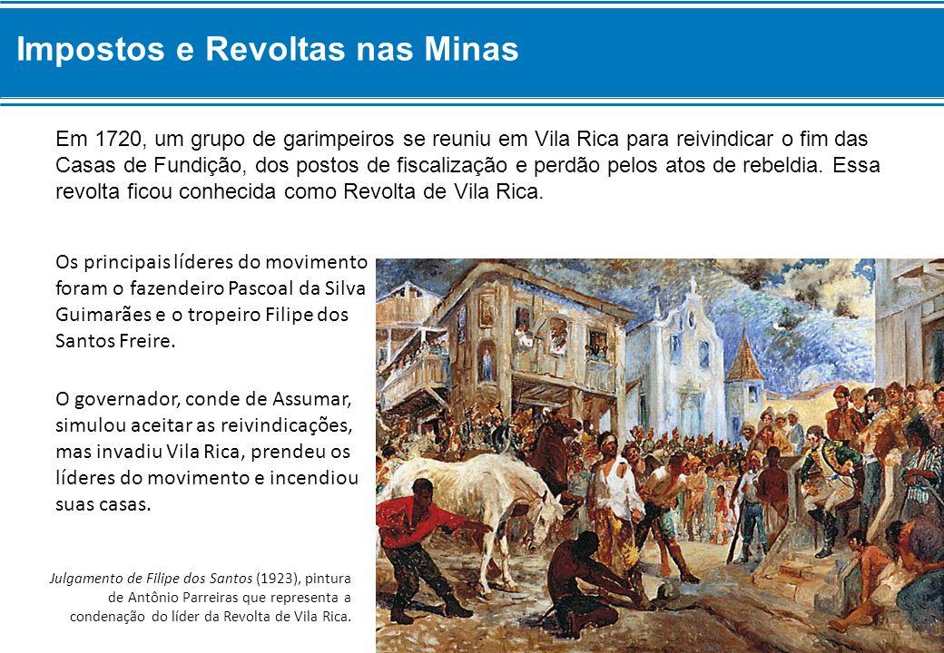 Impostos e Revoltas nas Minas