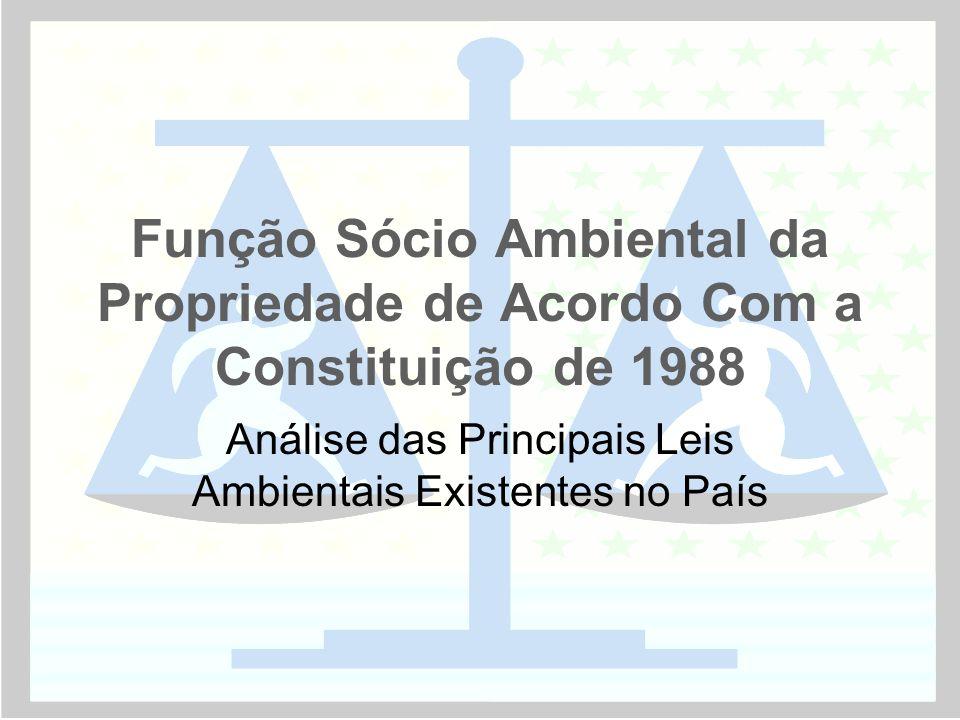 Análise das Principais Leis Ambientais Existentes no País